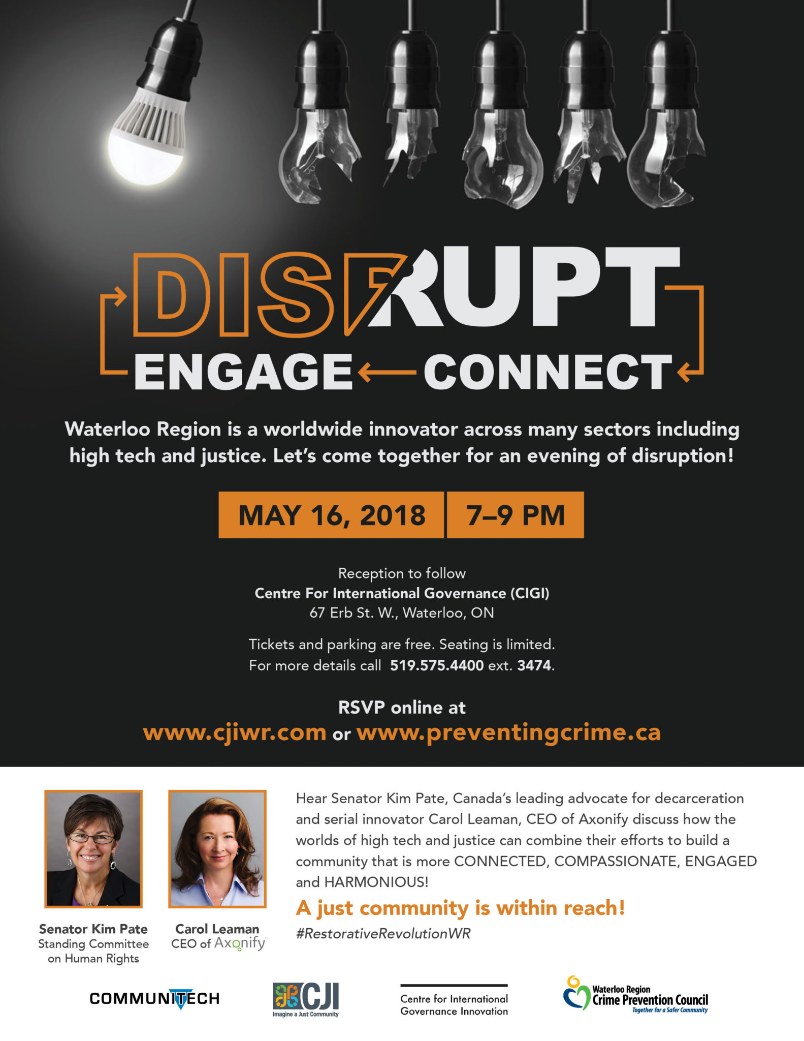 Disrupt-Connect-Engage: An Evening with Senator Kim Pate | Community ...